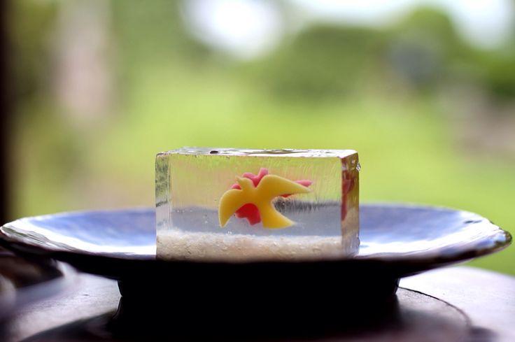 Japanese food sweet bean jelly とらや の 羊羹。