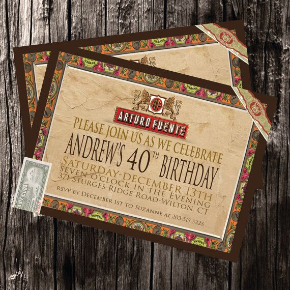 Cuban cigar box inspired save the date 395039s havana for Cigar box wedding invitations