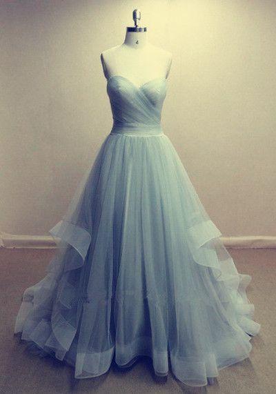 Long prom dress, ball gowns, elegant sweetheart neckline organza prom dress for teens #coniefox #2016prom