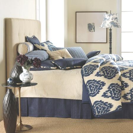 Blue Ikat Bedding.