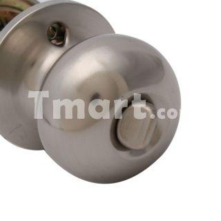 BK5801-PS Oval Lever Door Knob Lock Satin Nickel