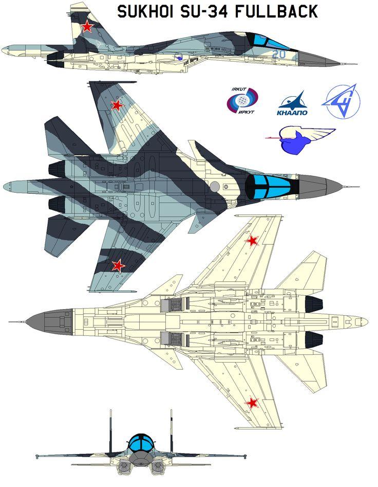 Sukhoi Su-34 Fullback by bagera3005 on DeviantArt