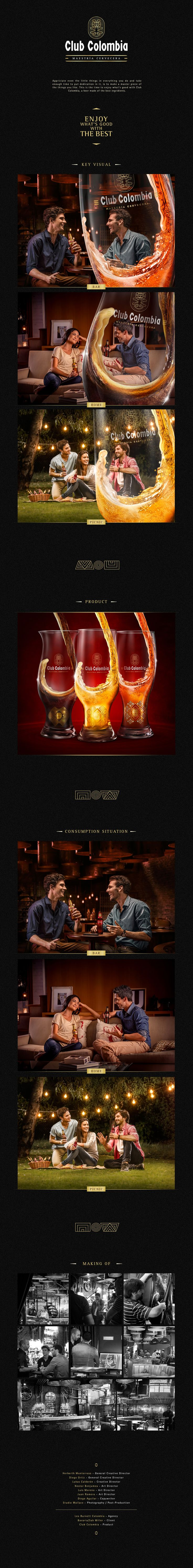 Club Colombia- Enjoy With The Best on Behance