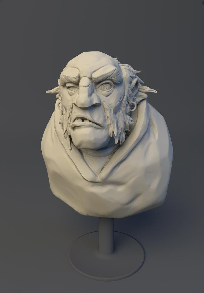 © Bernard Cousin - Sculpt 3D Sculptris / Blender http://bernardcousin.fr/sculpt-3d/