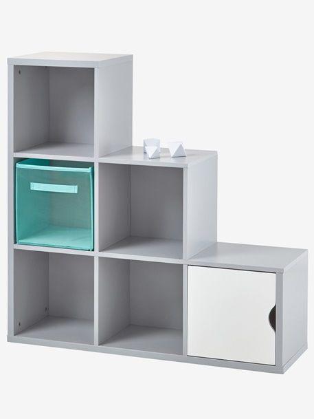 6-Box Storage Unit - Grey+White - 1