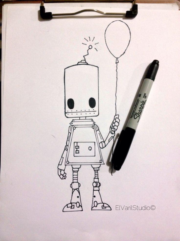 I'm robot #ilustration