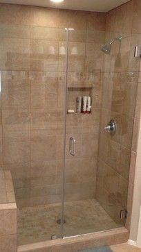 "60"" bathtub to stand up shower conversion contemporary                                                                                                                                                                                 More"
