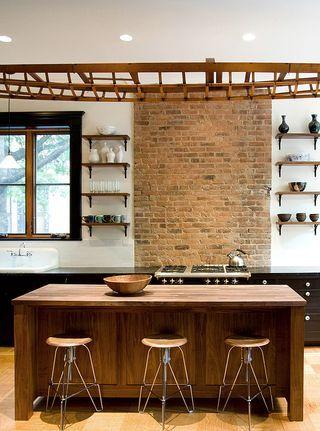 Brooklyn brownstone industrial style kitchen dust jacket industrial style kitchen brooklyn - Kitchen design brooklyn ...