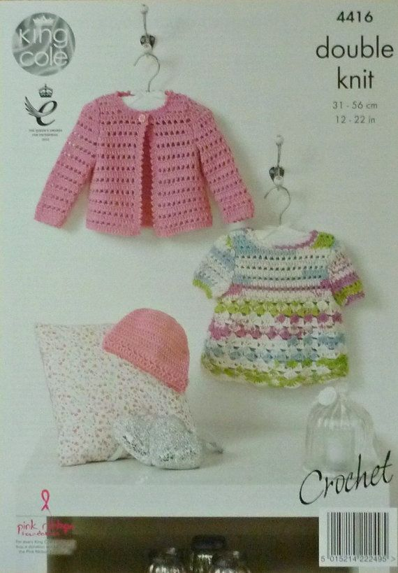 Baby Crochet Pattern C4416 Crochet Pattern Babies Dress Hat And