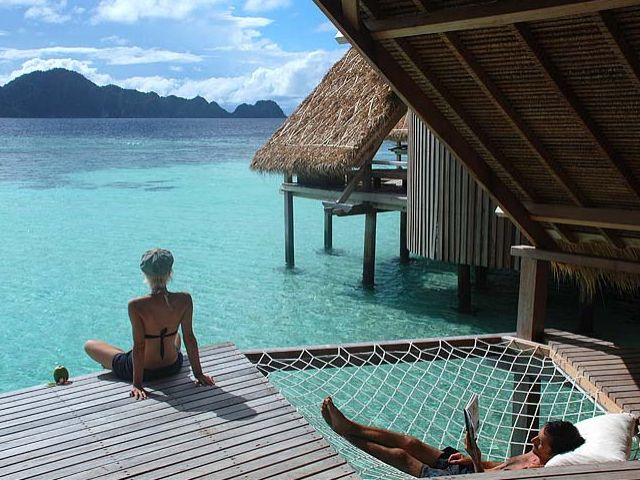 Love the hammock and the water and hut on the water and everything!: Favorite Places, Dream, Resorts, Places I D, Indonesia, Travel, Hammock