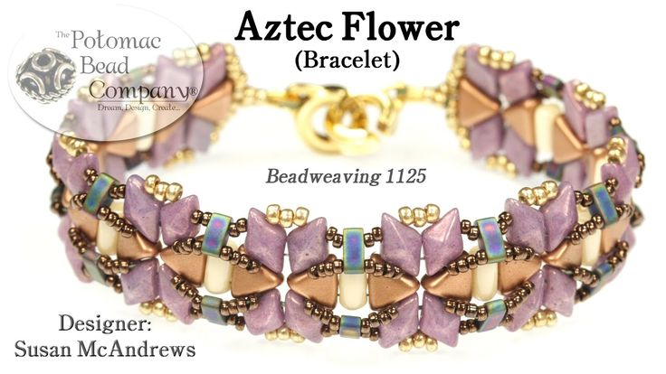 "This video from The Potomac Bead Company teaches you how to make Susan McAndrews' ""Aztec Flower"" bracelet. Find a list of supplies in the description below. ..."