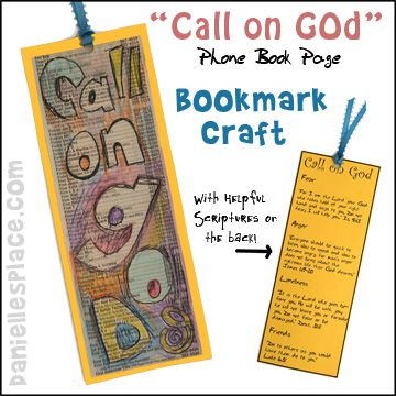 Bible craft call on god bookmark bible craft for for Bookmark craft for kids