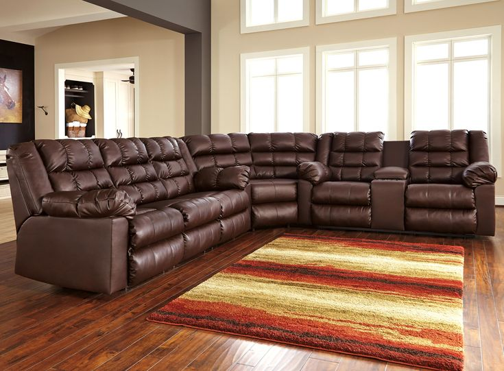 Signature Design by Ashley Brolayne DuraBlend® 3-Piece Reclining Sectional - Beck's Furniture - Reclining Sectional Sofa Sacramento, Rancho Cordova, Roseville, California