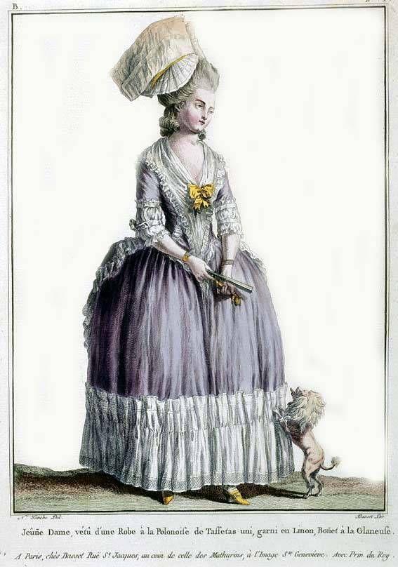 """Robe à la Polonaise from """"Gallerie des modes et costume francais"""""""