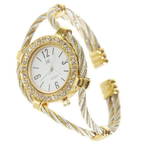 Beautiful Bracelet Style Lady's Crystal Quartz Wrist Watch