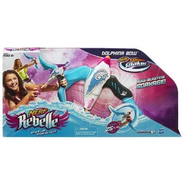 NERF Rebelle Dolphina Bow Soak  In een watergevecht kun jij je goed verdedigen met deze stijlvolle NERF Rebelle Dolphina Bow Soak. Schiet tot wel 115 meter ver!  EUR 22.99  Meer informatie