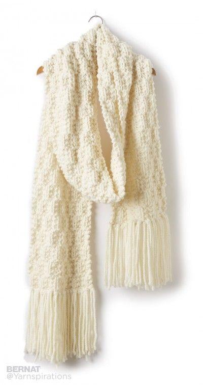 Rib Check Knit Super Scarf - Patterns | Yarnspirations: FREE knitting pattern