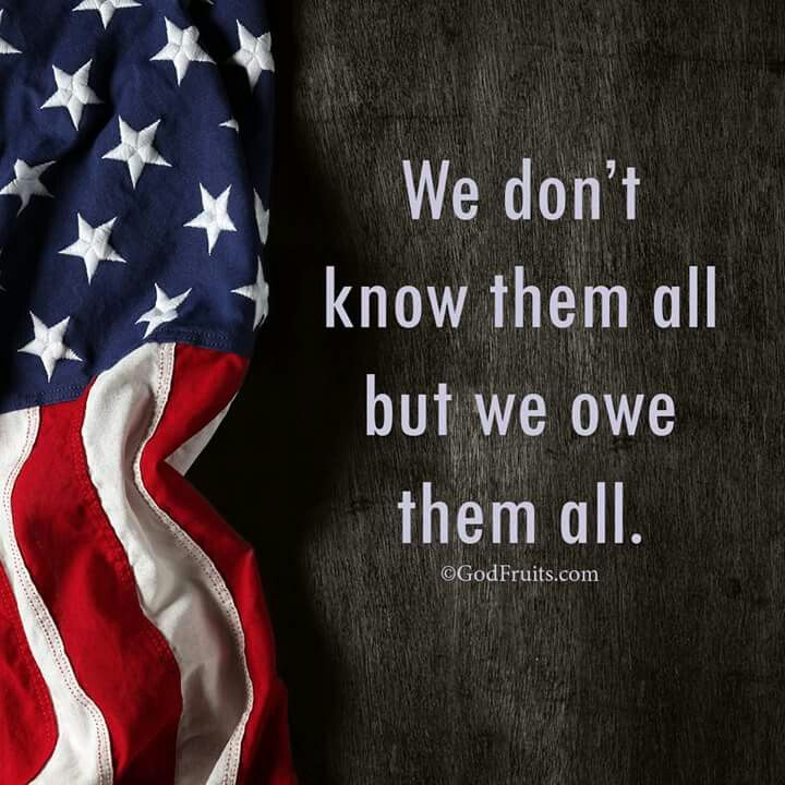 Truth... Every time you see a veteran or someone that is serving our country, tell them that they are appreciated. If they didn't fight for our country we wouldn't be here.✊                       ~erwilliams71504