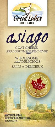 Asiago Goat Cheese – Great Lakes Goat Dairy