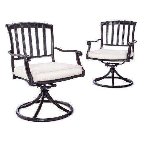Smith & Hawken™ Premium Kentfield 2-Piece Aluminum Patio Swivel Dining Chair Set
