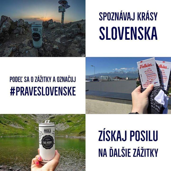 """Teraz vždy na konci mesiaca vyberieme 4 fotky alebo videá s najväčším ohlasom (komentáre alebo """"páčitká"""" na sieťach #praveslovenske) a ich tvorcom pošleme milé a funkčné darčeky. Spoznávajme naše krásne Slovensko spolu a buďme inšpiráciou pre svojich priateľov   PraveSlovenske.sk  folkies.sk  Pripíjam na #praveslovenske  #nahory #napana #dajtonapana"""