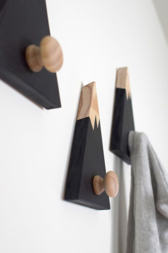 If you are looking for both a modern and designer way to style your belongings on the wall, our popular and exclusive mountain peak wall hangers will do the trick. We know you will love our new design so much that we offer all our customers 100% Money Back Guarantee (Less Postage). MATERIALS - Crafted from premium quality, FSC Certified eco-friendly pine hardwood. - Each mountain measures approx. 7 1/2 Inch high x 5 1/2 inches wide. - Coloured using a water-based acrylic paint and finished…