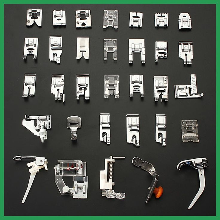 32 pcs Domestic Household Sewing Machine Presser Foot Feet Snap On Sewing Accessory Kit Tool Box for Brother Singer Janom