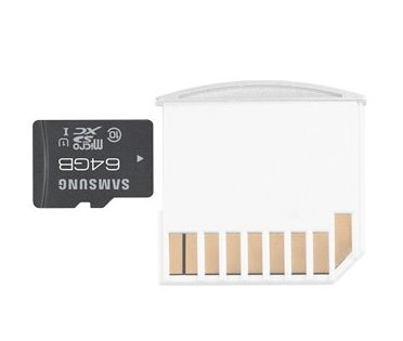Are you running out of storage space on your MacBook Air. Get Extra Volume micro SD Adapter. Easy to use and no messy cables.