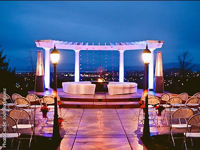 A Private Wedding Venue With A Terrace Overlooking The
