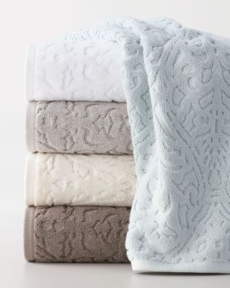 """""""Firenze"""" Towels by Kassatex at Horchow."""
