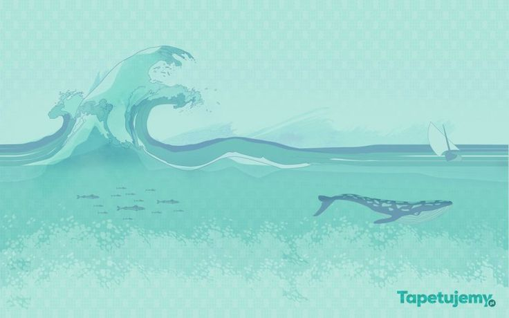 Fototapeta Smart Deco 41  //  cartoon see shark sail ocean boat wallpaper