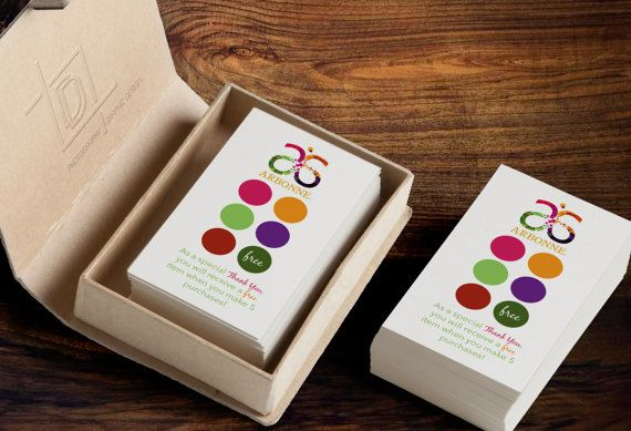 Arbonne Customer Loyalty Punch Cards by digitaldetoursdesign