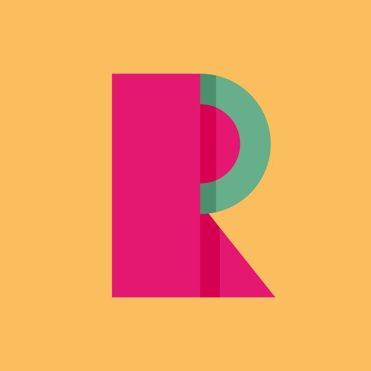 Letra R para el proyecto 36 días de tipografía. 36daysoftype.com/