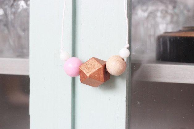 Sets - Halskette *Copper Love* : Kupfer und Rosa - ein Designerstück von PetitePaulineSchmuckdesign bei DaWanda