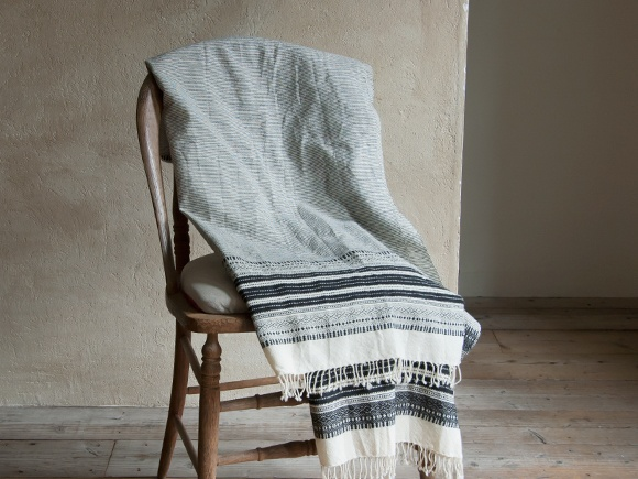Throw by Khadi & Co.  Also: khadi napkins etc. from The Conran Shop