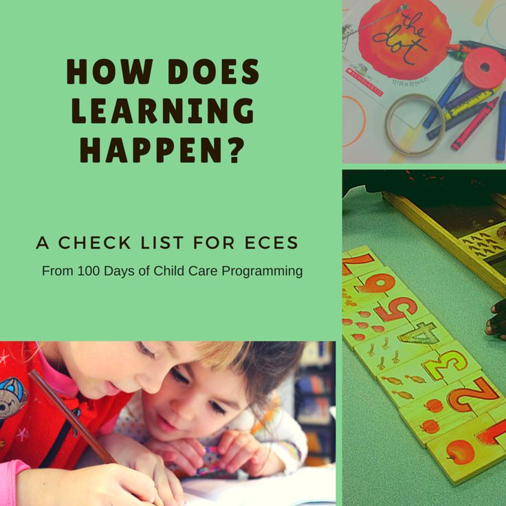How Does Learning Happen? A Checklist for ECES