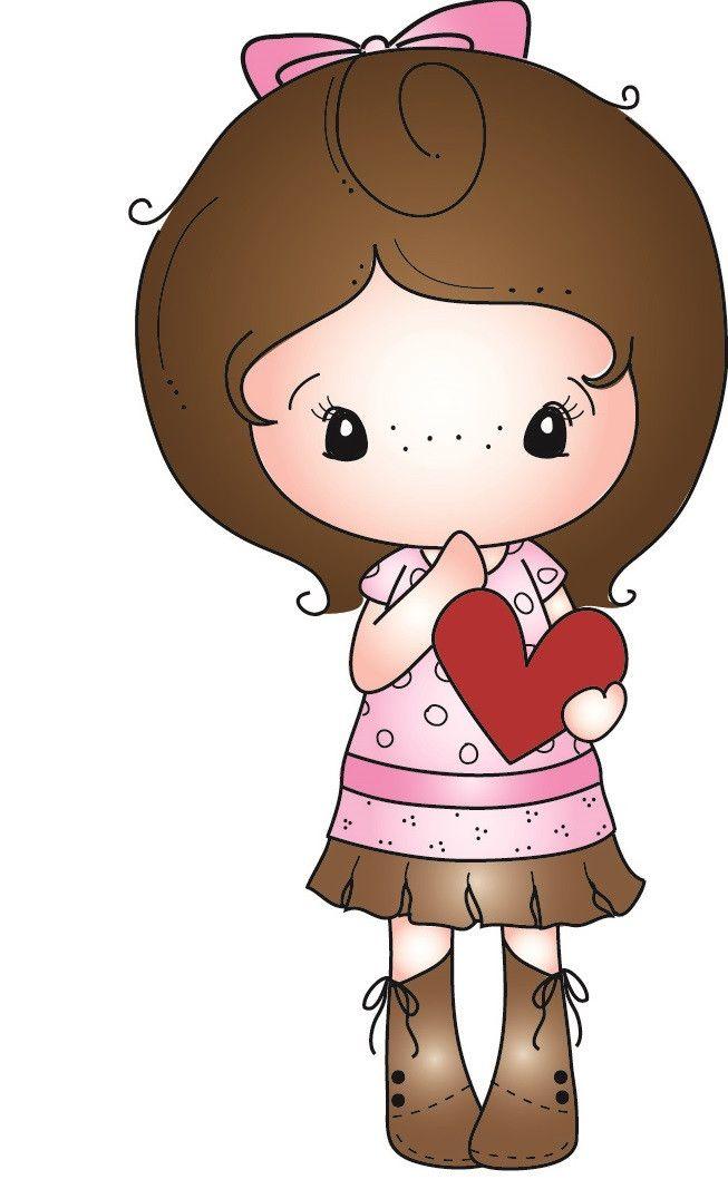 """C.C. Designs Kiki La Rue """"""""Heart Kiki"""""""" Rubber Rubber Stamp"""