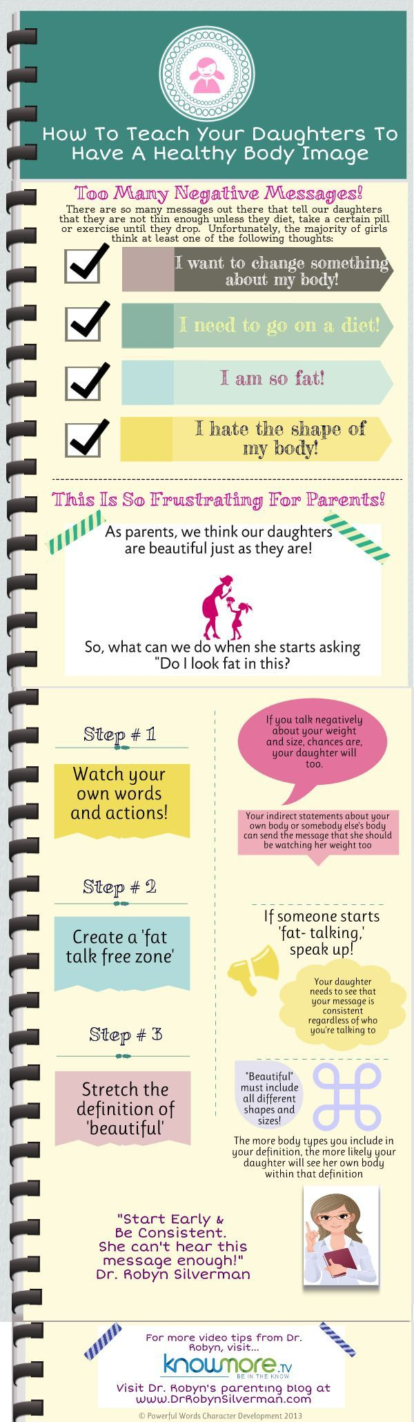 How to teach your daughters to have a healthy body image. This is from Dr. Robyn Silverman, child development specialist and creator of the Powerful Words Character system that we use at Sidekicks Family Martial Arts Center, located in FishHawk (http://www.lithiamartialarts.com)