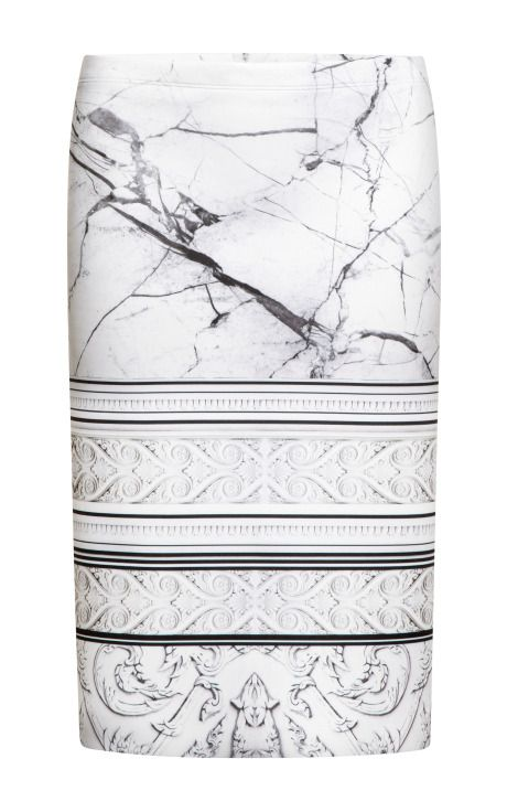 Printed Neoprene Skirt by Clover Canyon - Moda Operandi