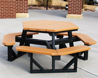 Good  Ft Hexagonal Recycled Plastic Picnic Table Kunststoff