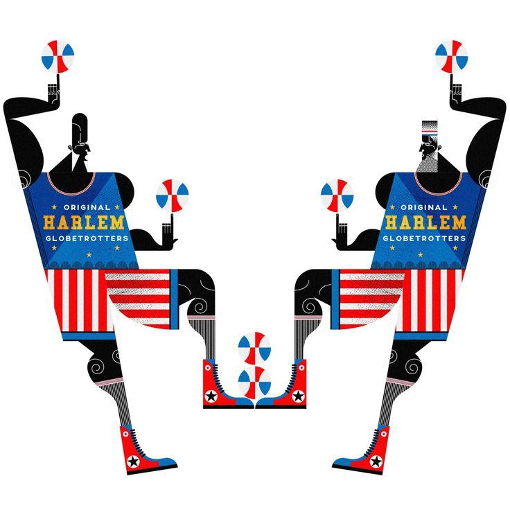 Artist: JONNY WAN - Harlem Globetrotters | Art of ...