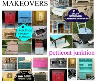 Paint Furniture With Latex Paint - Petticoat Junktion