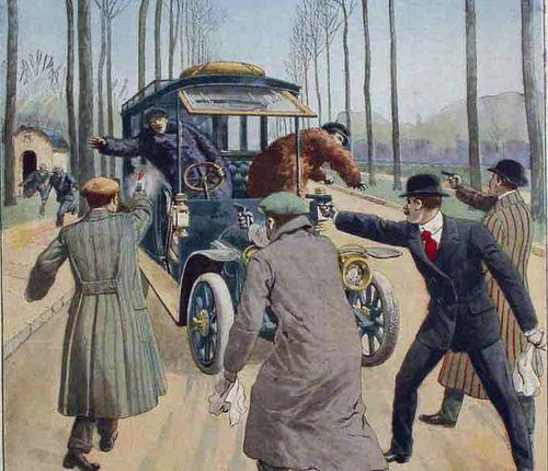 L'attaque de la forêt de Senart, en couverture du Petit Journal du 7 avril 1912: Clothing 1910S