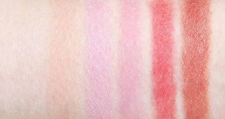 Annabelle Lipsies swatches - cinnamon, gingerbread, peppermint, chocolate, candy cane, marshmallow