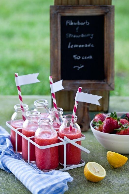 rhubarb and strawberry lemonade...delish