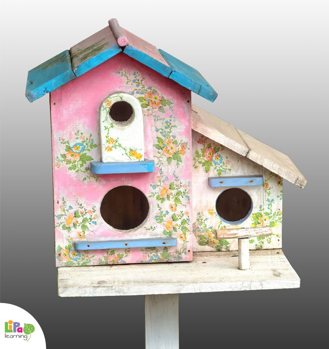 DIY birdhouse is our favorite winter project with kids!