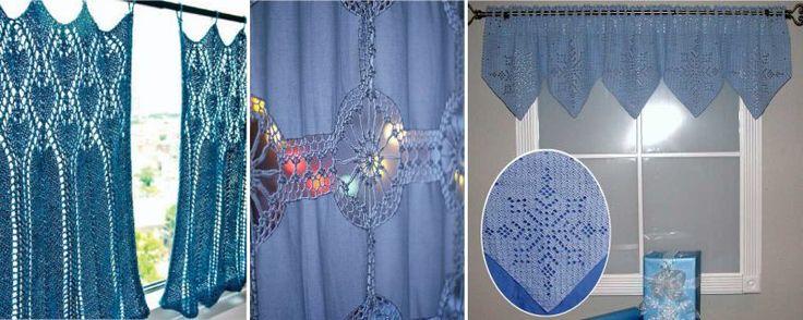 Синие и голубые шторы в стиле прованс
