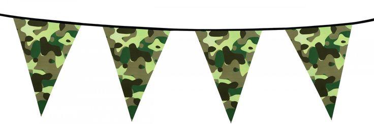 Guirlande fanions papier Camouflage  et un choix immense de décorations pas chères pour anniversaires, fêtes et occasions spéciales. De la vaisselle jetable à la déco de table, vous trouverez tout pour la fête sur VegaooParty