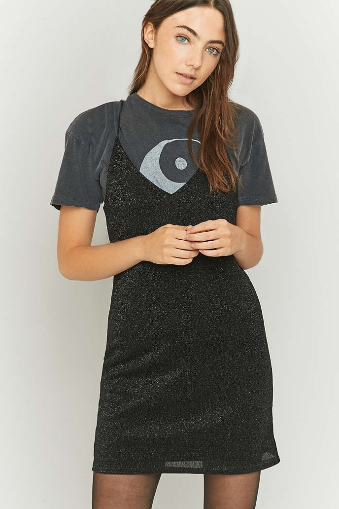 Sparkle & Fade Lurex Slip Dress - Urban Outfitters