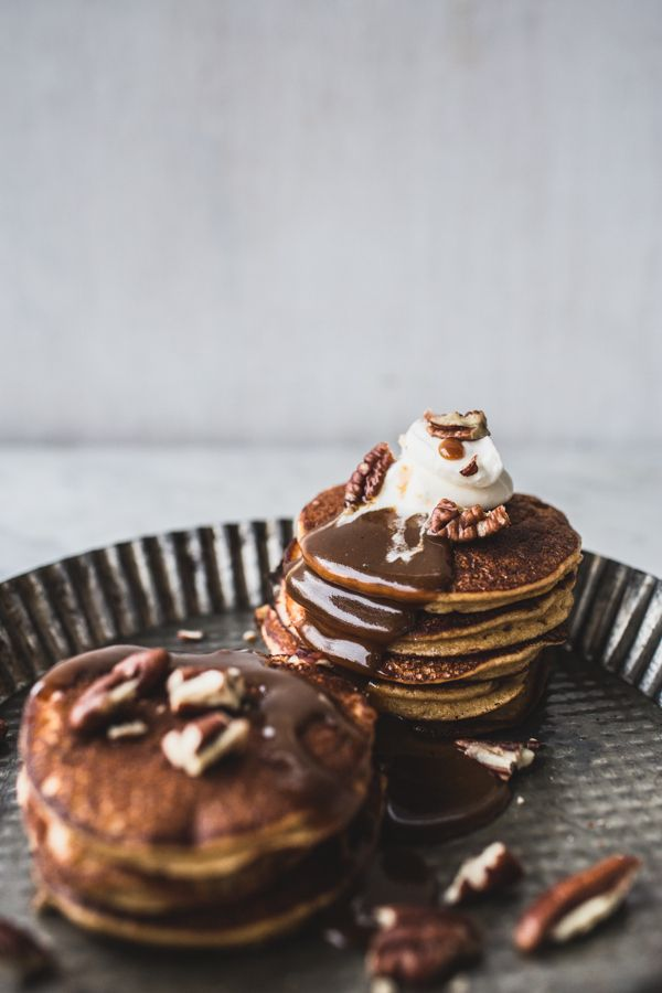 gluten free sticky toffee pudding pancakes